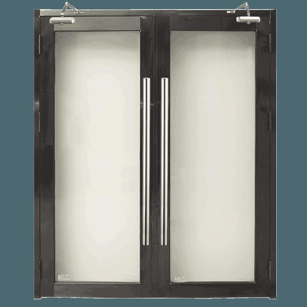 喷粉黑色不锈钢玻璃隔热防火玻璃门接河池百色梧州工程
